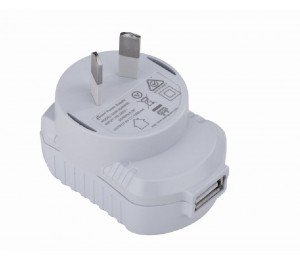Astrotek USB Travel Wall Charger Power Adapter AU Plug 1A 220V 1 Port White Colour AT-USB-PWR
