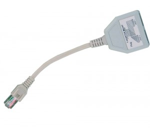 Cabac UTP Splitter Dongle RJ45 Plug to 2 By RJ45 Socket (LS) 42LAUTP