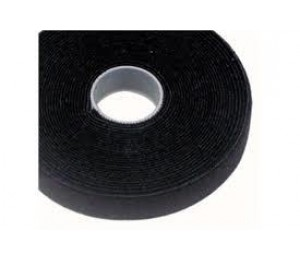 Cabac 25mmx25m Roll Black Back To Back Grip For Cat6 Pro Cable Tie Vt25bk-25m