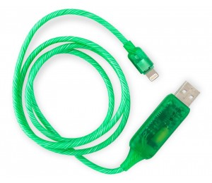 8Ware Visible Flowing Usb Lightning Charging Cable - Green Ck-Vs801L-Gn