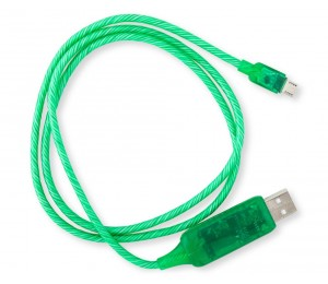 8Ware Visible Flowing Micro Usb Charging Cable - Green Ck-Vs802-Gn