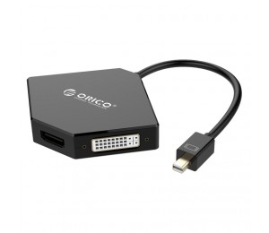Orico Mini Display Port To Hdmi / Vga / Dvi Adapter - Black Orico Dmp-Hdv3S-Bk-Bp