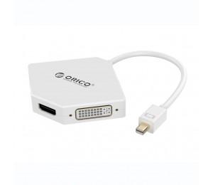 Orico 4k Mini Display Port To Hdmi/ Dvi/ Vga Adapter Orico Dmp-hdv3s-wh