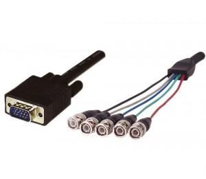 Cabac 1m Rgb Monitor Hd15m To 5 X Bnc Cable (ls) 40rgb5