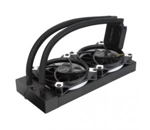 Antec Kuhler K240 Liquid Cpu Cooler Low Profile Pwm Fan Teflon Coated Tubing. Socket 2066 2011