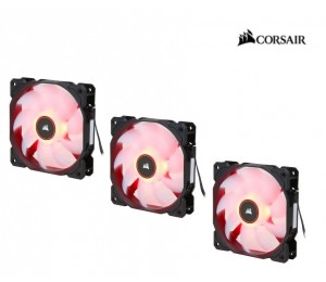 Corsair Air Flow 120Mm Fan Low Noise Edition/ Red Led 3 Pin - Hydraulic Bearing 1.43Mm H2O.