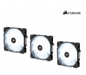 Corsair Air Flow 120Mm Fan Low Noise Edition / White Led 3 Pin - Hydraulic Bearing 1.43Mm H2O.