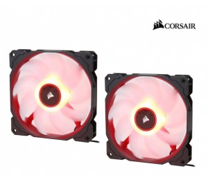 Corsair Air Flow 140Mm Fan Low Noise Edition / Red Led 3 Pin - Hydraulic Bearing 1.43Mm H2O. Superior
