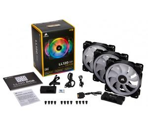 Corsair Light Loop Series Ll120 Rgb 120mm Dual Light Loop Rgb Led Pwm Fan 3 Fan Pack With Lighting