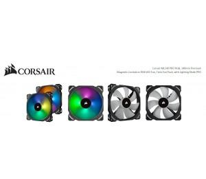 Corsair Ml140 Pro Rgb 2 Fan Pack With Lighting Node Pro 140mm Premium Magnetic Levitation Rgb