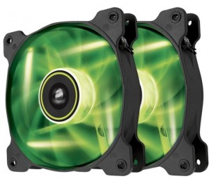 Corsair SP 140mm Fan with Green LED High Pressure Twin Pack! CO-9050037-WW