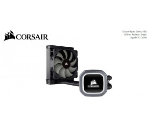 Corsair H60 v2 120mm Liquid CPU Cooler. LED Illuminated Pump Head Efficient cool plate and pump.