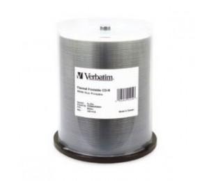 Verbatim Cd-R 700Mb 100Pk White Wide Thermal 52X - 95254 95254
