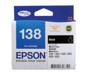 Epson 138 HighCap Black Ink Suits NX420 320 325 525 625 C13T138192