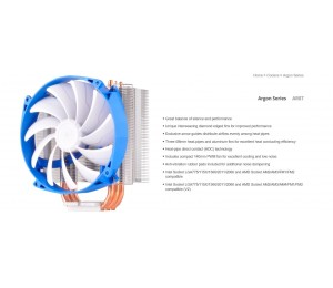 Silverstone Ar07 14cm Pwm Low Noise 3 Heatpipe Cpu Cooler Compatible 2011 2066 1150 1151 1155