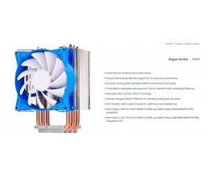 Silverstone AR08 92mm PWM 3 Heatpipe CPU Cooler Compatible 2011 2066 1150 1151 1155 FM2 AM4. Height