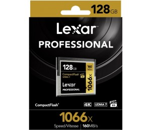 Lexar Professional 1066x 128gb Cf Compact Flash Card - Upto 160mb/ S Lcf128crbap1066