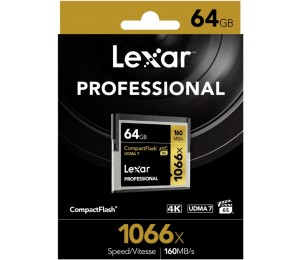 Lexar Professional 1066x 64gb Cf Compact Flash Card - Upto 160mb/ S Lcf64gcrbap1066