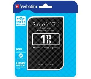 Verbatim 2.5' USB 3.0 Store'n'Go HDD Grid Design 1TB - Black 53194
