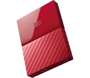 "Western Digital My Passport Portable 1Tb Red 2.5"" Portable Usb3.0 Black. Built-In 256-Bit Aes"
