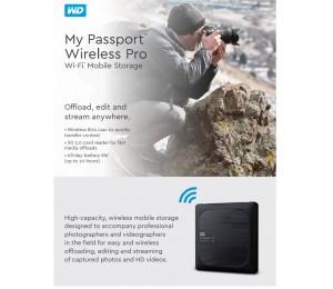 Western Digital My Passport Wireless Pro 1tb Wi-fi Mobile Storage Usb3.0 Wireless Ac Sd Card Slot