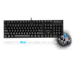 Gigabyte Force K83 Mechanical Gaming Keyboard Cherry Mx Blue Switch Anti-ghosting Function & Windows-lock