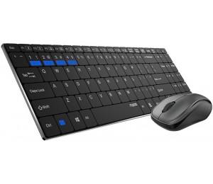 Rapoo 9060M Bluetooth & 2.4G Wireless Multi-Mode Keyboard Mouse Combo Black - 1300Dpi Spill-Resistant