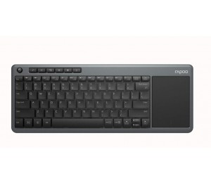 Rapoo K2600 Wireless Touch Keyboard - 2.4Ghz Wireless Connection/Multi-Media Hotkeys/ Compact Design/Touch Pad/Windows 10 Support K2600-Grey