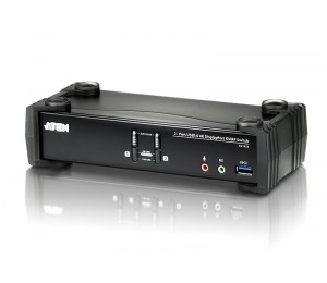 Aten 2 Port Usb 3.0 4K Displayport Kvmp Switch. Support 4096 X 2160 @ 60Hz Cs1922-At-U