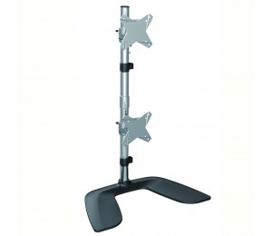 "Brateck Free Standing Dual Vertical Lcd Monitor Stand From 13"" "" -27"" Ldt02-T02V"