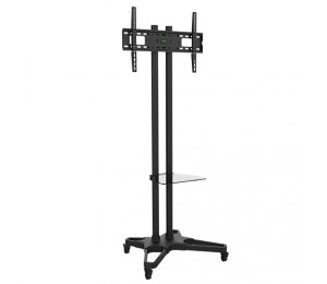 """Brateck Portable Tv Cart With Roller For Lcd Screen Size 37"""" """" 70"""" T1021B"""