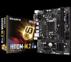 Gigabyte GA-H110M-M.2 mATX MB LGA1151 2xDDR4 VGA DVI HDMI Intel GbE LAN PCIEX16 M.2 4xSATA3 4xUSB3.1