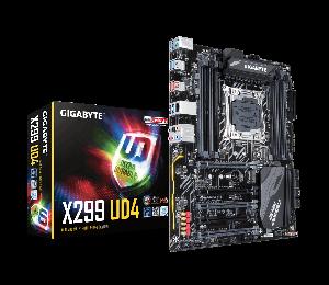 Gigabyte X299 UD4 Ultra Durable ATX MB S2066 8xDDR4 5xPCIe 2LAxM.2 RAID Intel GbE LAN 8xSATA 6xUSB3.1