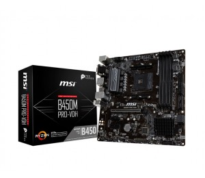 Msi B450M Pro-Vdh Plus Amd M-Atx Motherboard - Am4 Ryzen 4Xddr4 3Xpcie 1Xm.2 6Xusb3.1 8Xusb2.0 1Xdvi-D