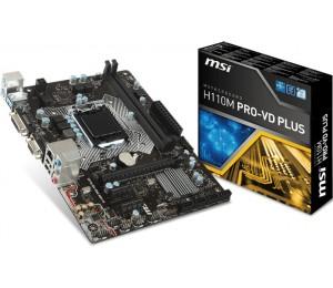 MSI H110M PRO-VD PLUS MATX Motherboard - S1151, 2xDDR4, 1xPCI-E, DVI/ VGA, TPM H110M PRO-VD PLUS