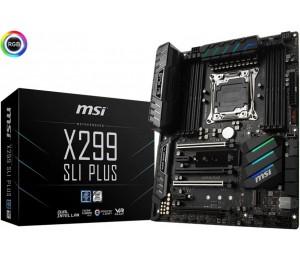 MSI x 299 SLI PLUS ATx Motherboard - S2066 8x DDR4 4x PCI-E 2x M.2 U.2 SLI/ CF TypeC TPM X299 SLI
