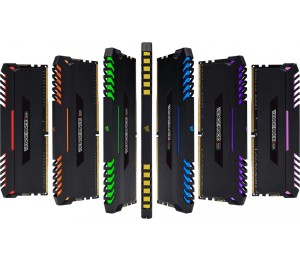 Corsair Vengeance RGB 16GB (2x8GB) DDR4 2666MHz C16 Desktop Gaming Memory CMR16GX4M2A2666C16