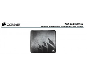 Corsair Mm350 Premium Anti-Fray Cloth Gaming Mouse Pad. Extra Large Edition 450Mm X 400Mm X 5Mm.