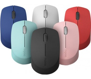 Rapoo M100 2.4ghz & Bluetooth 3/ 4 Quiet Click Wireless Mouse Pink - 1300dpi 3 Devices M100 Pink