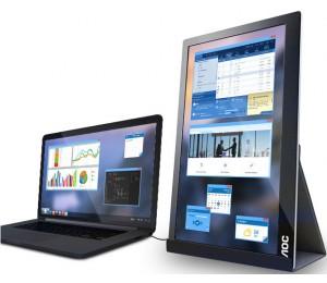 AOC 15.6' 5ms IPS Full HD USB Type-C Powered Portable Business Monitor - Tilt Ultra Slim & Light