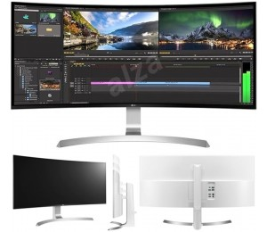 "LG 34UC99 34""Curved UltraWide WQHD IPS Gaming Monitor 21:09 3440x1440 5ms 2xHDMI DP USB-C Speakers Height Adjust Tilt VESA FreeSync ~34UC98 34UC88 34UC99"