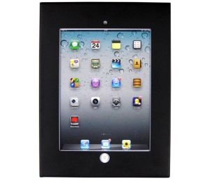 Brateck Wall Mount Anti-Theft Secure Enclosure for iPad 2 iPad 3 iPad 4 iPad Air&iPad Air 2-Black
