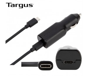 Targus 45W Usb-C Car Charger 3A Fast Charging Bult-In Surge Protection For Mobile Phones Tablets