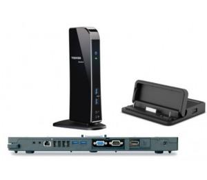Toshiba Port Replicator High Sped Iii 120w 4xusb3.0 2xusb2.0 Rj45 1gbps Hdmi Dp Vga Dvi Dp Micro