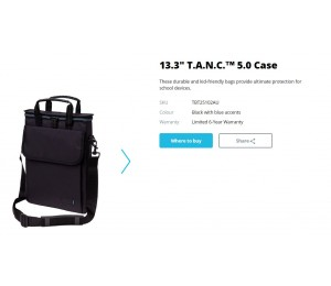 "Targus 13.3"" Tanc 5.0 Case - Thin & Light Tbt25102Au"