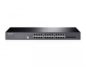 TP-Link T1700G-28TQ JetStream 24-Port Gigabit Stackable Smart Switch with 4x10GE SFP+ Slots L2+