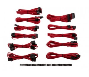 Corsair For Corsair Psu - Red Professional Individually Sleeved Dc Cable Pro Kit Type 4 (Generation