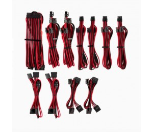 Corsair For Corsair Psu - Red/ Black Premium Individually Sleeved Dc Cable Pro Kit Type 4 (Generation