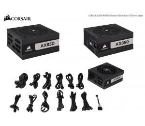 Corsair 850W Ax Series 80 Plus Titanium Fully Modular Atx Power Supply 10 Years Warranty Cp-9020151-Au