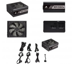 Corsair 550w V2 Rmx 80+ Gold Fully Modular 135mm Fan Atx Psu 10 Years Warranty Cp-9020177-au